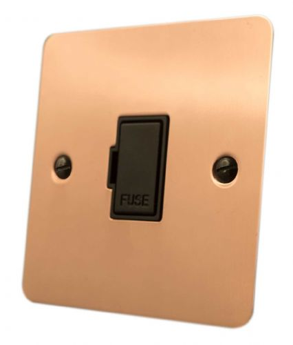 G&H FBC90B Flat Plate Bright Copper 1 Gang Fused Spur 13A Unswitched